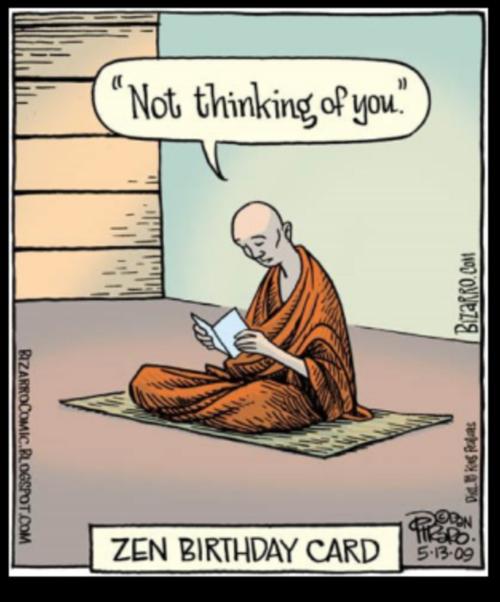 Tarjeta de felicitación Zen