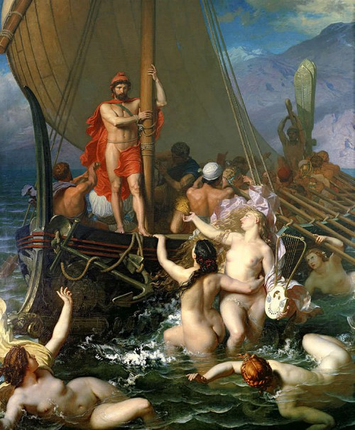 «Ulysses And The Sirens by Léon Belly» de Léon Belly - Léon Belly (1827–1877). Disponible bajo la licencia Public domain vía Wikimedia Commons - http://commons.wikimedia.org/wiki/File:Ulysses_And_The_Sirens_by_L%C3%A9on_Belly.jpg#mediaviewer/Archivo:Ulysses_And_The_Sirens_by_L%C3%A9on_Belly.jpg