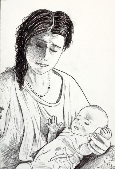 Mujer con niño otro autor