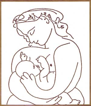 mujer con niño picasso