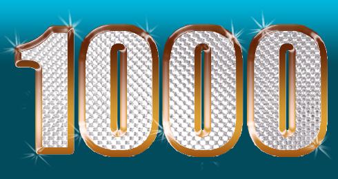1000 brillante