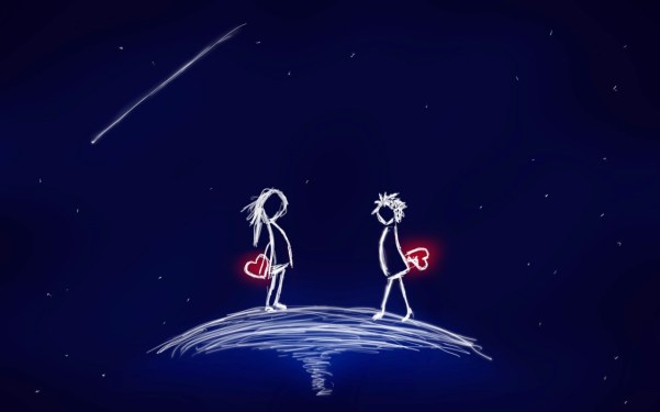pareja corazones
