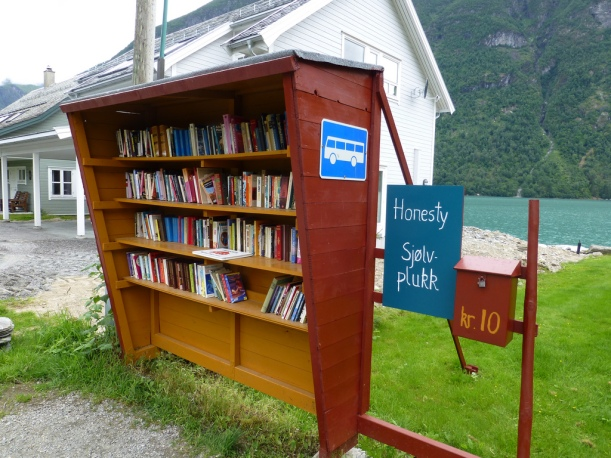 Foto biblioteca Noruega en para autobús